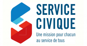 logo service civique Ligue de l'enseignement du Gers