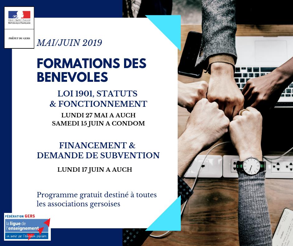 Formation Bénévoles associatifs - Ligue de l'enseignement du Gers